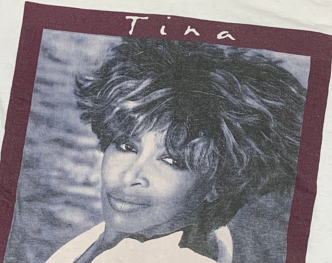 L * vtg 90s 1993 Tina Turner what's love got to do with it tour t shirt * 84.101