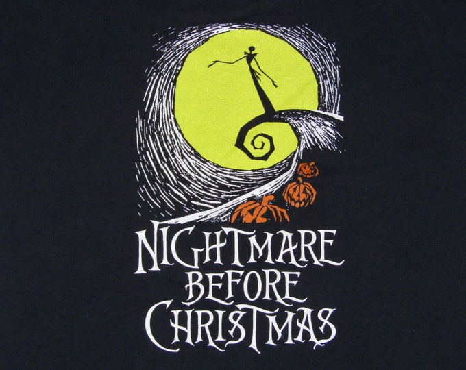 L * vtg 90s a Nightmare Before Christmas t shirt * tim burton movie * 38.163