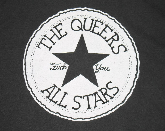 XL * vtg 90s The Queers t shirt * lookout records punk * 108.14