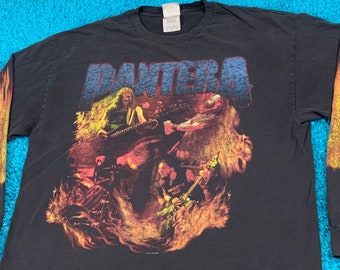 XL * faded vtg PANTERA long sleeve t shirt * 55.155