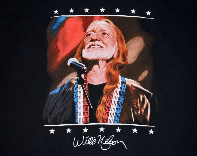 XL * vtg 90s Willie Nelson american icon t shirt * 43.159 usa single stitch