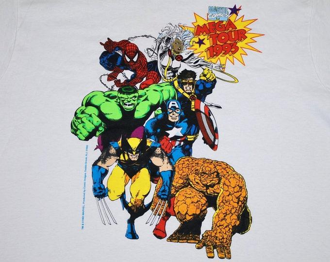 L/XL * NOS vtg 90s 1993 Marvel Comics Mega Tour t shirt * comic * 80.127