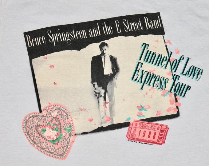 L * thin vtg 80s 1988 Bruce Springsteen tour t shirt * 19.184
