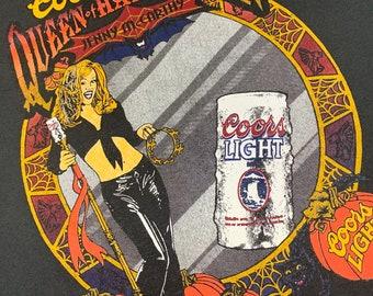 XL * vtg 90s 1997 Jenny McCarthy coors light beer halloween t shirt * 51.144