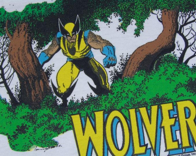 S * NOS vtg 80s 1988 Wolverine marvel comic t shirt * 42.187