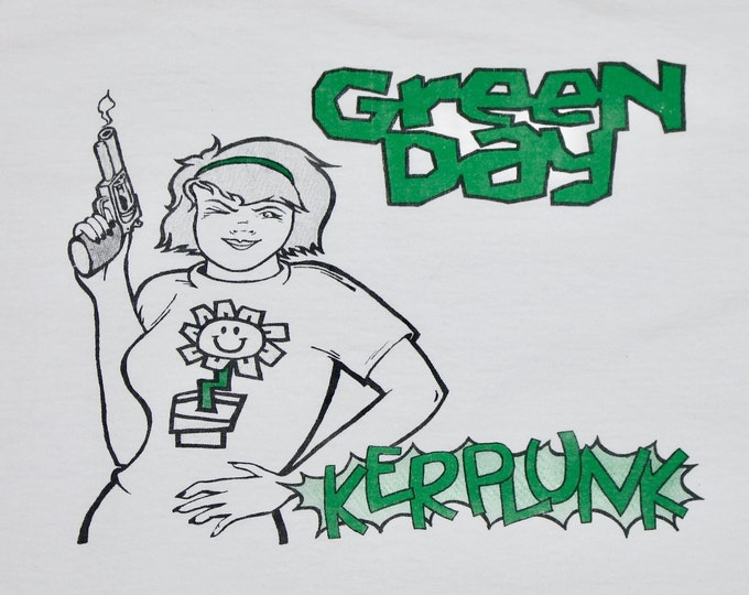 XL * vtg 90s Green Day Kerplunk t shirt * punk lookout records * 55.146