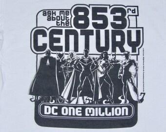 XL * NOS vtg 90s 1998 promo DC Comics on million 853rd Century t shirt * comic book * 83.150