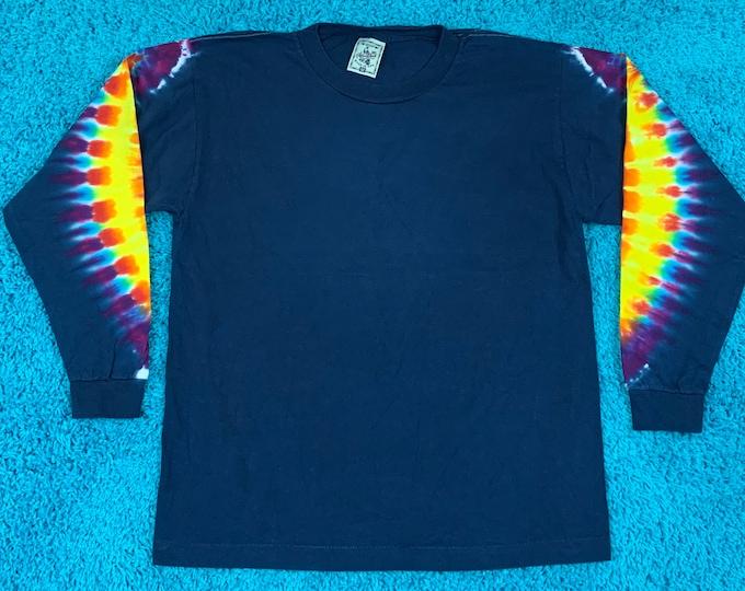 M * nos vtg 90s tie dye t shirt * single stitch * 62.174