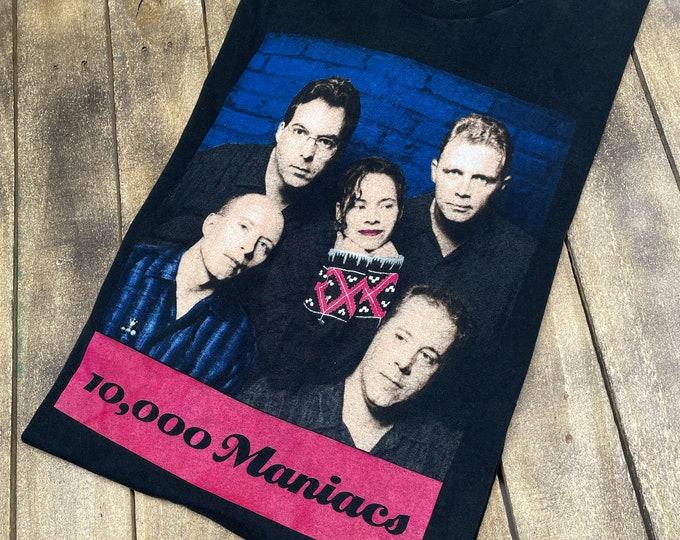 XL * vintage 90s 1992 10,000 Maniacs our time in eden tour t shirt * 10000 natalie merchant * 28.192