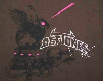 womens M * nos vtg 90s Deftones t shirt