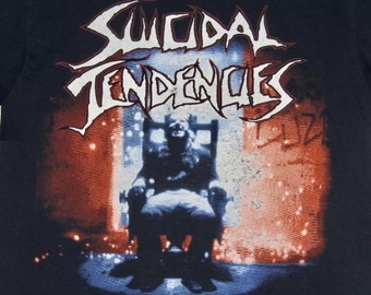 L * thin vtg 1990 Suicidal Tendencies lights camera revolution tour t shirt * 2.144