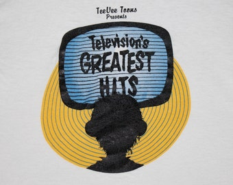 S * vtg 80s 1985 TeeVee Toons televisions greatest hits comp t shirt * tv show * 101.19