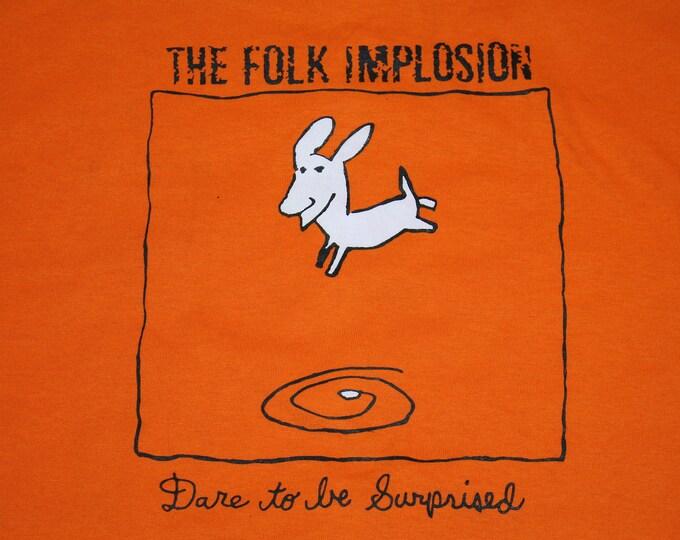 XL * NOS vtg 90s 1997 The Folk Implosion dare to be surprised t shirt * sebadoh dinosaur jr * 63.176
