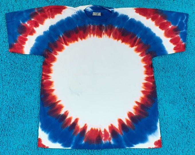 M * nos vtg 90s tie dye single stitch t shirt * 76.141