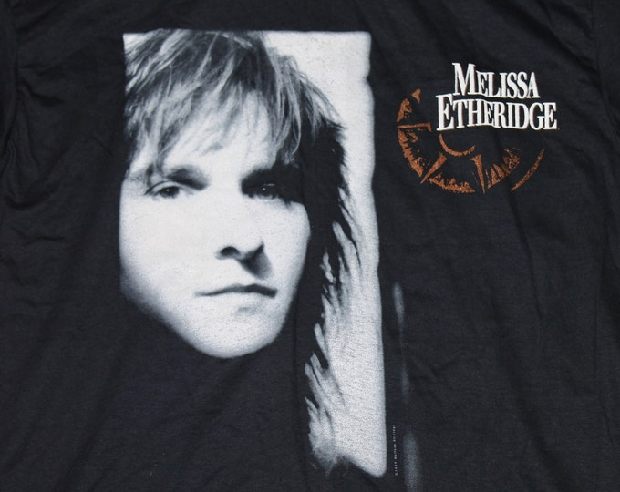 XL * NOS vtg 80s 1988 Melissa Etheridge bay area CA concert t shirt * 38.158 tour