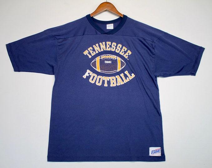L * vtg 80s Tennessee Vols t shirt jersey * volunteers * 9.150