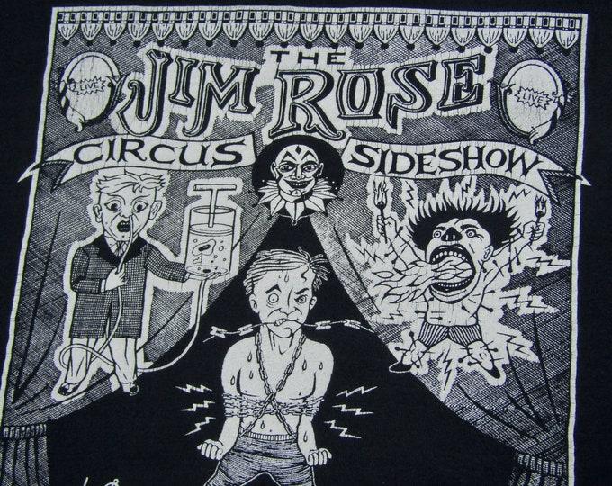 L * vtg 90s The Jim Rose Circus sideshow freakshow tour t shirt * 10.173