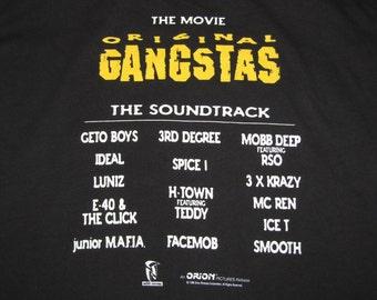 XL * NOS vtg 90s 1996 OG Original Ganstas promo movie soundtrack t shirt * rap geto boys mobb deep e-40 junior mafia ice t spice1 * 5.142