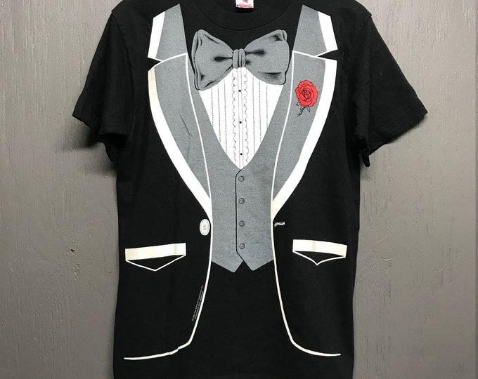 M vtg 90s Tuxedo t shirt Fits like M