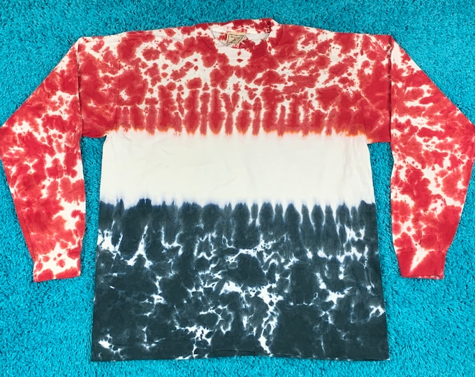 L * nos vtg 90s tie dye t shirt * 47.173 * single stitch