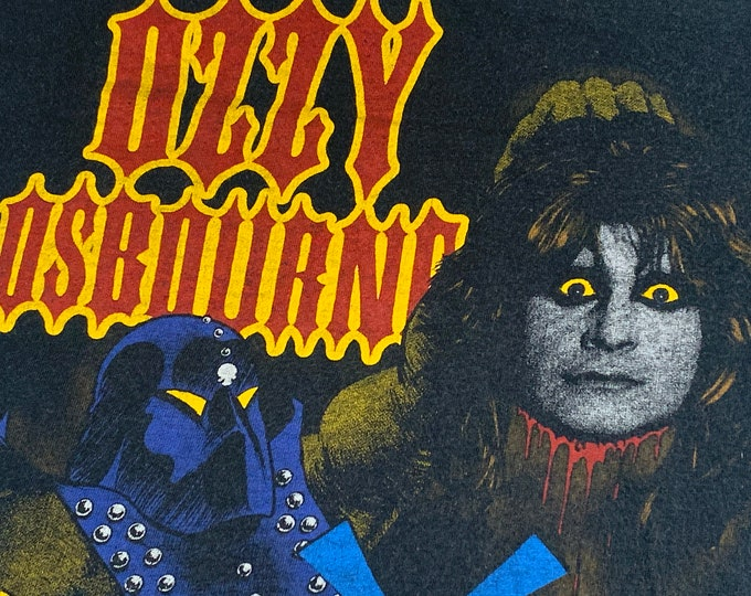 XS * vtg 80s 1982 Ozzy Osbourne diary of a madman t shirt * black sabbath tour metal * 70.145