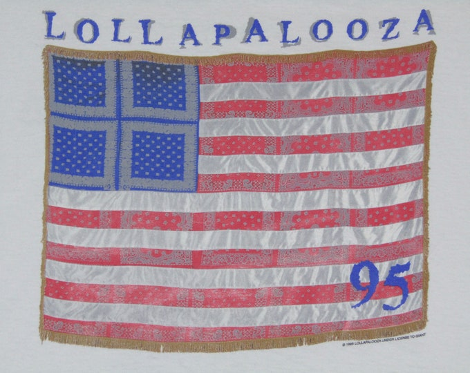 XL * vtg 90s 1995 Lollapalooza concert tour t shirt * sonic youth hole cypress hill beck the jesus lizard