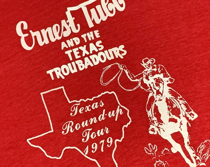 L * vtg 70s 1979 Ernest Tubb and his Texas Troubadours t shirt * classic country music tour * 24.193