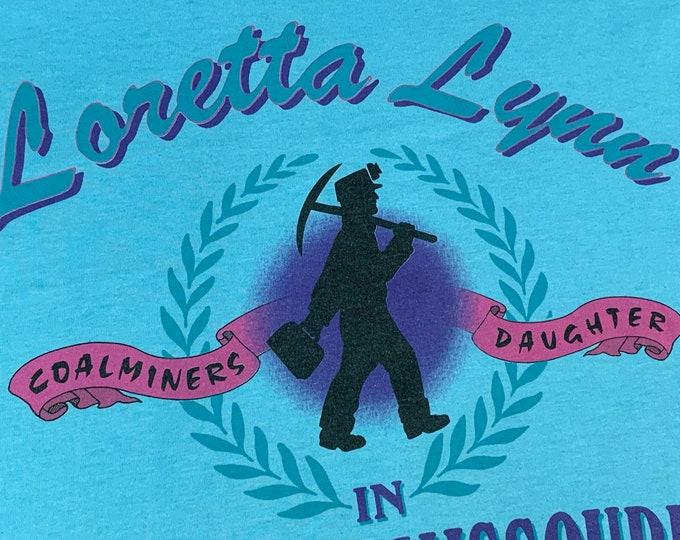 XL * vtg 90s Loretta Lynn coal miners daughter t shirt * classic country music * 58.170