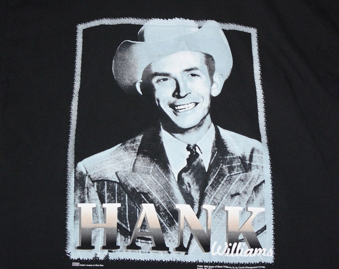 L * vtg 90s 1995 Hank Williams Sr t shirt * classic country music