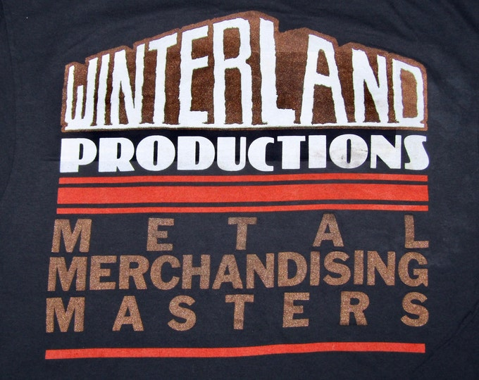 M/L * vtg 80s 1988 Winterland Heavy Metal Merchandising convention t shirt * tour medium large * 7.174