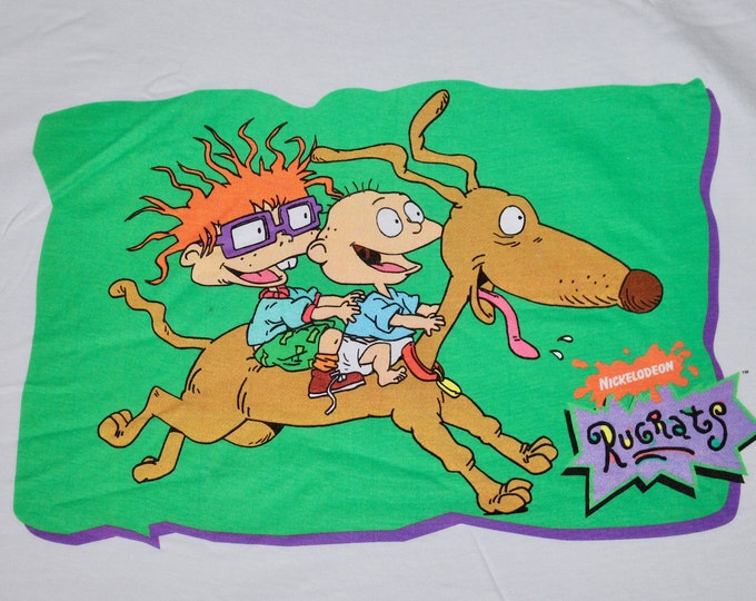 XL * NOS vtg 90s Rugrats Nickelodeon t shirt * cartoon movie tv show * 99.3