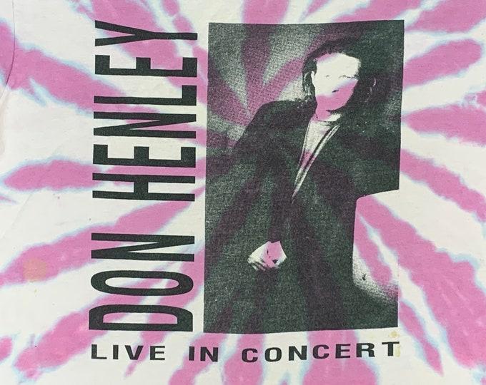 M * vtg 80s 1989 Don Henley the end of innocence tie dye tour shirt * 56.155
