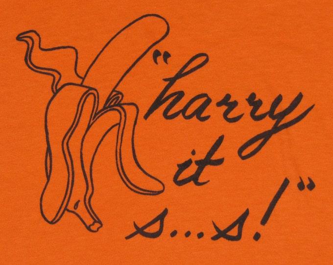 S * vtg 70s 1976 Harry Chapin it sucks tour t shirt * 30000lbs of bananas * 99.29