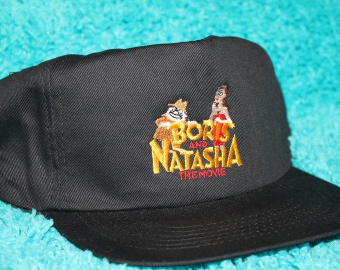 NOS vtg 90s 1992 Boris and Natasha movie promo snapback hat * rocky & bullwinkle
