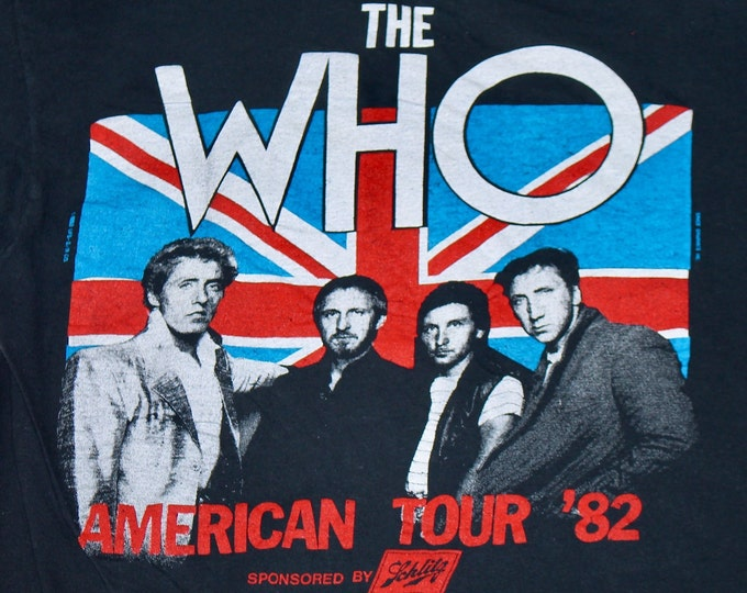 S * vtg 80s 1982 The Who concert tour t shirt * 16.109