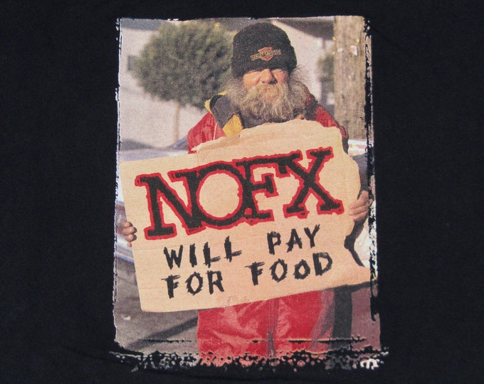 XL * vtg 90s 1996 NOFX hobophobic t shirt * heavy petting zoo punk * 9.154