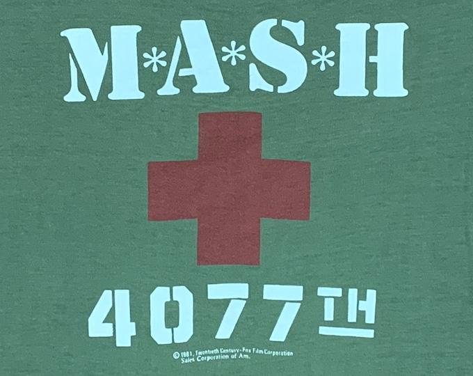 S * thin vtg 80s 1981 MASH tv show t shirt * m.a.s.h. * 73.142