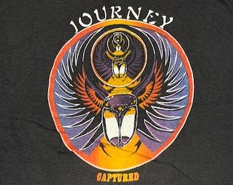 S * nos vtg 80s 1981 JOURNEY Captured t shirt * concert tour