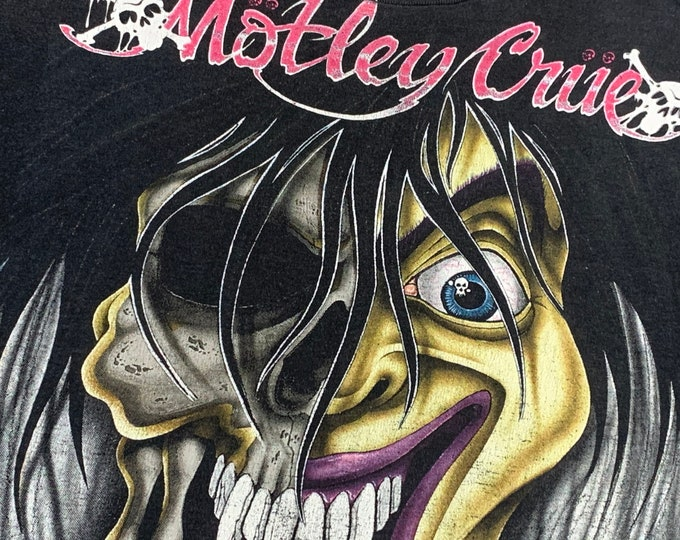 M * thin vtg 1990 Motley Crue dr feelgood tour t shirt * 47.169 glam metal 80s sleaze rock concert