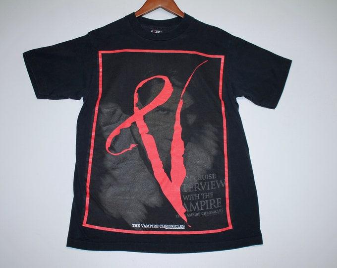M/L * vtg 90s 1994 Interview With The Vampire movie t shirt * medium large tom cruise brad pitt kristen dunst anne rice a horror goth 33.158