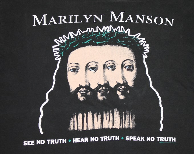 XL * vtg 90s Marilyn Manson believe t shirt * 51.140
