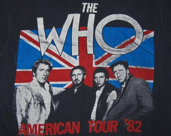S * vtg 80s 1982 The Who tour t shirt * concert band * 10.171
