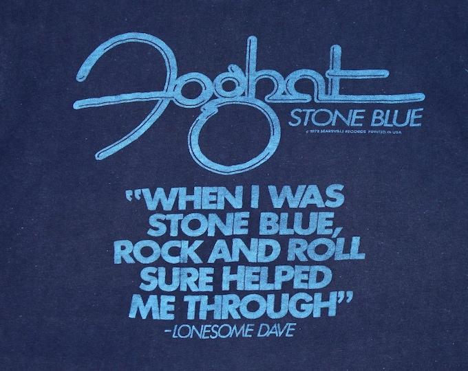 XS * vtg 70s 1978 Foghat stone blue promo t shirt * 104.34