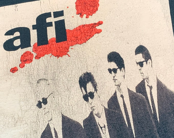 L * vtg 90s 1995 AFI answer that and stay fashionable t shirt * a fire inside * 92.48