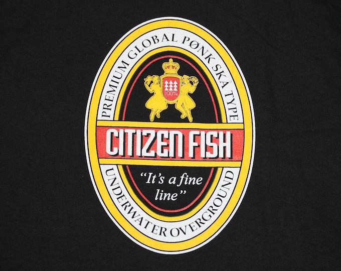 XL * NOS vtg 90s Citizen Fish t shirt * subhumans punk ska * 6.171