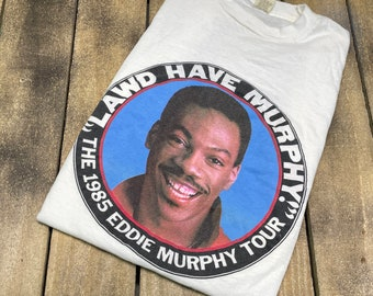 S * vintage 80s 1985 Eddie Murphy tour muscle t shirt * comedy movie * 13.170