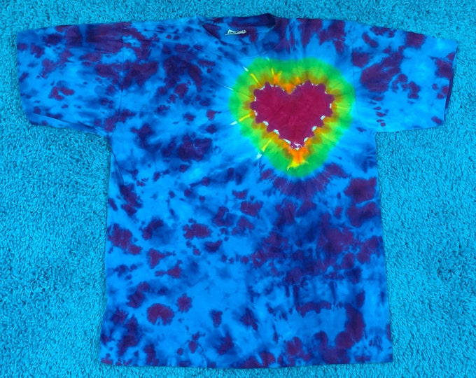 M * nos vtg 90s tie dye t shirt * single stitch * 61.143