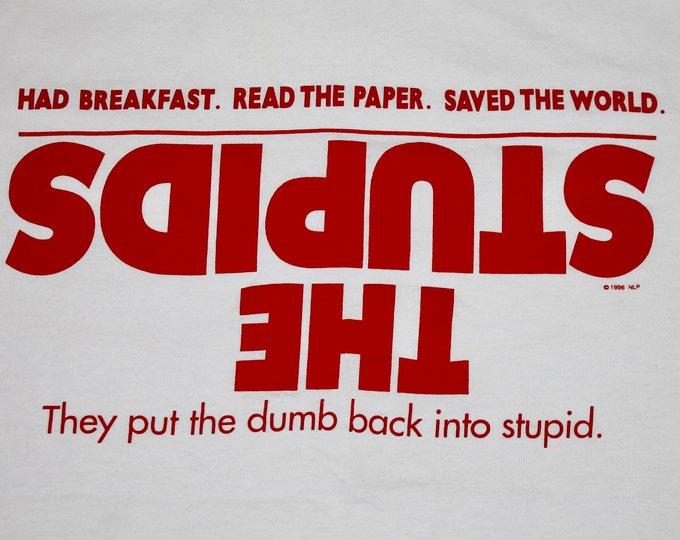 XL * vtg 90s 1996 The Stupids movie promo t shirt * 41.175