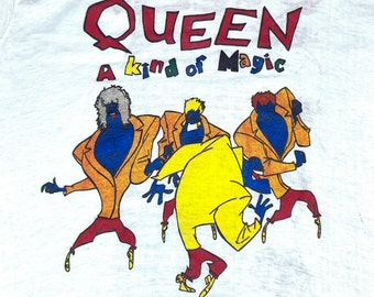S/M * nos vtg 80s 1986 QUEEN european tour t shirt * concert small medium * 74.110