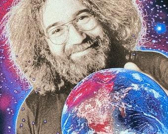 M * nos vtg 90s Jerry Garcia world to give Winterland t shirt * grateful dead * 91.63/GDS